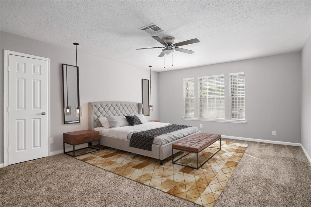 virtual staging photography of Houston, TX home